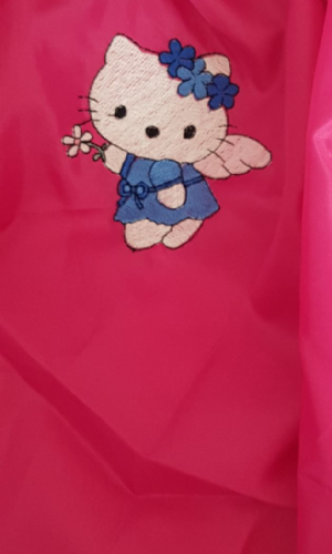 Hello kitty  personalised drawstring bag pink